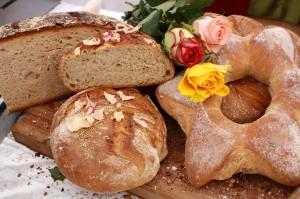 Brot-Spezialitäten auf dem Brotmarkt