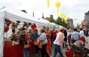 Der Stuttgarter Brotmarkt auf dem Schlossplatz